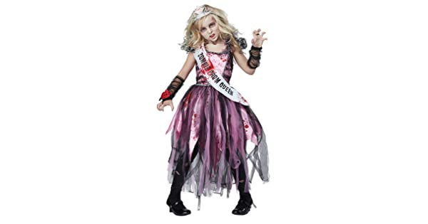 California Costumes Zombie Prom Queen Dress Child Girls Halloween Costume 00529