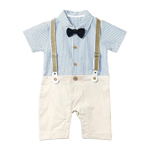 7b8fe18af Amazon.com: HeMa Island HMD Baby Boy Gentleman White Shirt Bowtie Tuxedo  Onesie Jumpsuit Overall Romper(0-18M) ...: Clothing