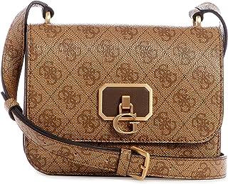 حقيبة نويل صغيرة وغطاء قلاب بحزام يمر بالجسم من جيس، بني