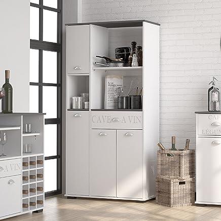 Amazon.es: mueble auxiliar cocina - Cómodas y cajoneras ...