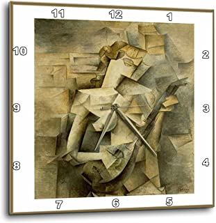 3dRose DPP_57638_2 Picasso Painting Girl with Mandolin 1917-Wall Clock, 13 by 13-Inch