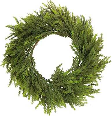 Admired By Nature Artificial 25 Inches Chinese Ceder Wreath in Green