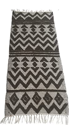 Chardin Home – Catalina Runner – 100% Recycled Polyester Fiber Indoor/Outdoor Area Rugs. Size: 2'x5', Color: White-Gray