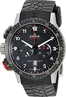 EDOX - EDOX Rally Instruments CHRONORALLY 1 - Reloj de Cuarzo Unisex, Correa de Goma Color Negro