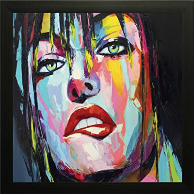 PRINTELLIGENT A Fantasy Woman Portrait,Temptation, Oil Painting.Wall Paintings with Frame Size 10 inch x 10 inch