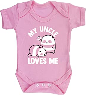 Hippowarehouse My Nanny Loves Me Panda Baby Romper All in one Piece Unisex