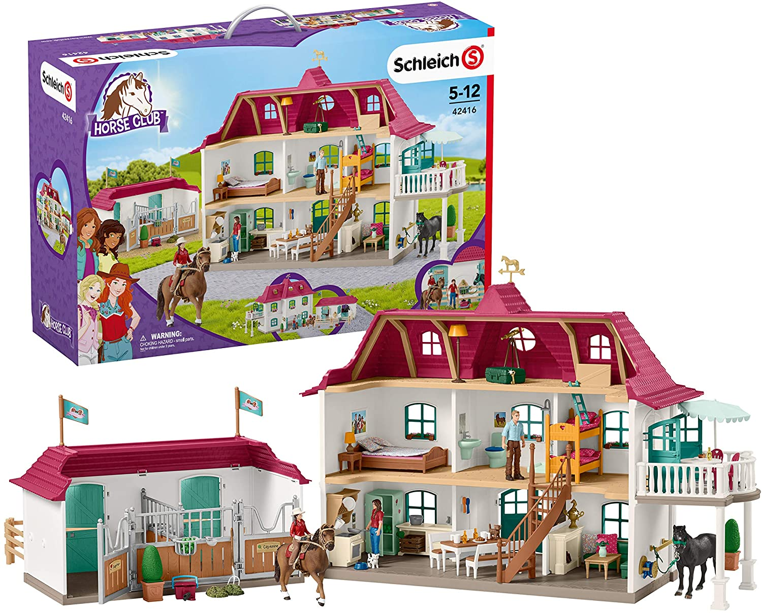 Max 77% OFF Schleich Horse Club 70-Piece Lakeside Dollhouse and Country Hors Rapid rise