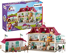Schleich Horse Club, Large Horse Stable with House & Stable Playset & Toy Figures
