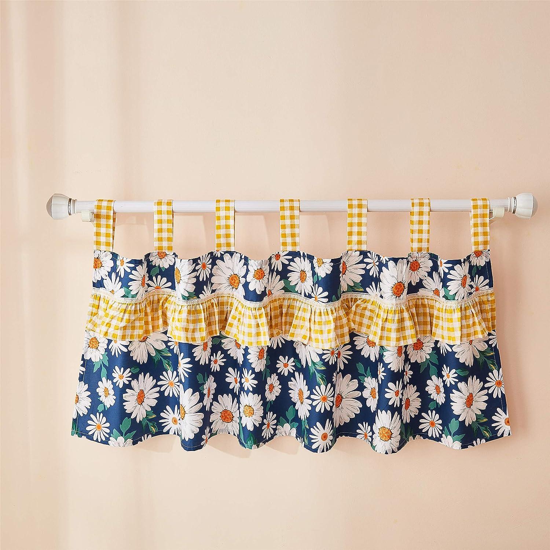 Brandream Baby Arlington Mall Sale item Girls Valance Vintage Curtain Panels Floral Blue