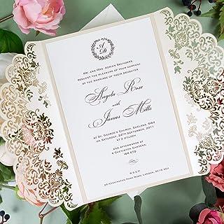 Partecipazioni Matrimonio 50 Centesimi.Amazon It Partecipazioni Matrimonio