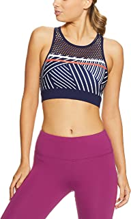 Lorna Jane Women's Tres Sporty Sports Bra, Ink Stripe