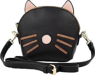 B BRENTANO Vegan Medium Cat 3D Ear Whisker Crossbody Bag
