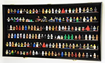 sfDisplay.com,LLC. 180 Lego Men/Legos/Mini Figures Minifigures/Display Case Cabinet - Lockable (Black Finish)
