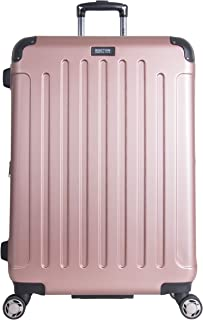 """Kenneth Cole Reaction Renegade 28"""" Hardside Expandable 8-Wheel Spinner Checked Luggage, Rose Gold"""