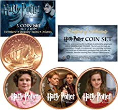 Harry Potter DEATHLY HALLOWS Colorized British Halfpenny 3-Coin Set (Set 3 of 6)