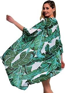 Beach Coverups for Women Floral Kimono Open Front Cardigan Maxi Dress Swimsuit Beachwear Summer