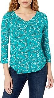 Aventura womens Glenrose 3/4 Sleeve Top Shirt