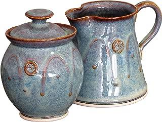 Handmade Irish Pottery Sugar and Creamer Set