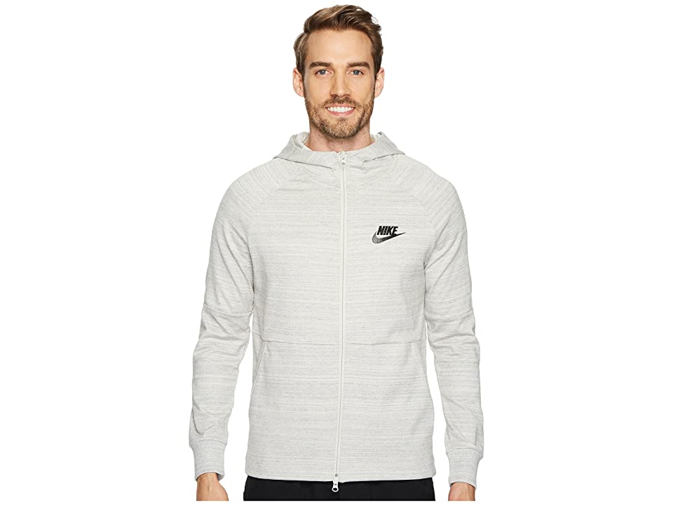Nike Sportswear Advance 15 Full-Zip Jacket (Light Bone/Heather/Light Bone/Black) Men