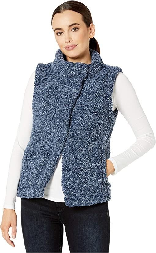 Dylan Frosty Tipped Cozy Vest M Womens Brown