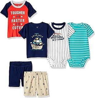 Carter`s Baby Boys` 6-Piece Bodysuit Tee and Short Set