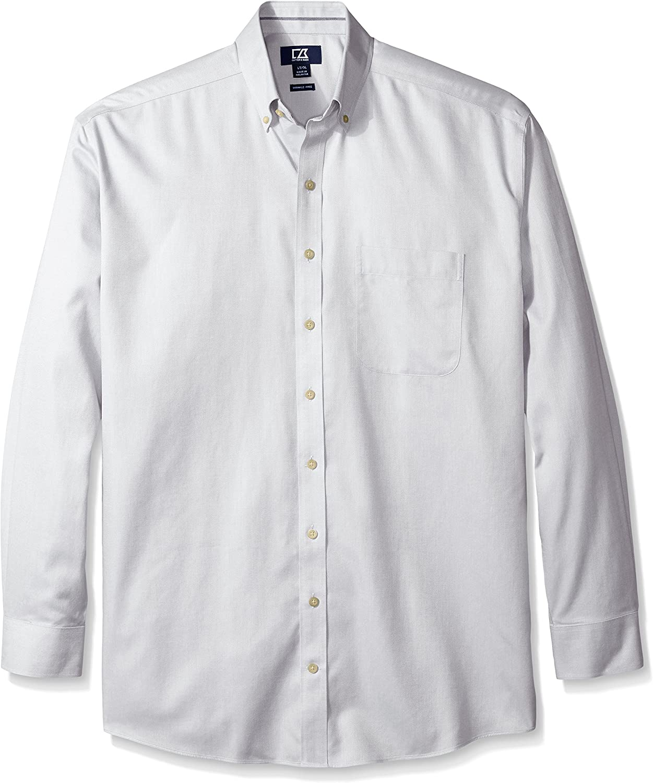 Cutter & Buck Mens Big and Tall San Juan Wrinkle Free Solid Button-Down Shirt