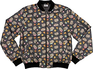 Pusheen Lightweight Bomber Jacket Pizza Donut Food & Poses Cute All Over Print