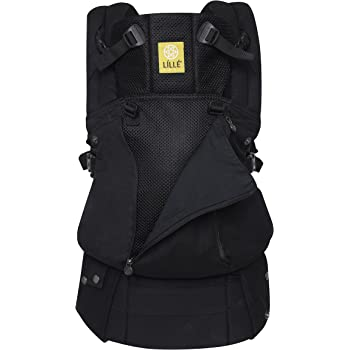 LÍLLÉbaby Complete All Seasons Six-Position 360° Ergonomic Baby and Child Carrier, Black