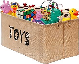 Gimars Contenedor de canasta grande para juguetes Caja de