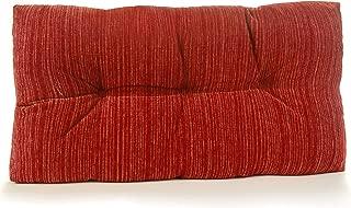 Klear Vu Chenille Fabric Tufted Gripper Non Slip Overstuffed Bench Pad Cushion, 27