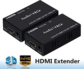 avedio links HDMI Extender(Transmitter&Receiver) Over Single cat5e/6 Full-HD 196FT/60M 3D,HDMI 1.4a, HDCP, EDID, Up to 196ft(60m)