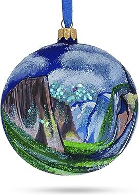 BestPysanky Yosemite National Park, California Sierra Nevada Glass Christmas Ornament 4 Inches