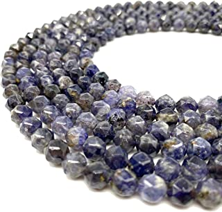 United necklace with iolite beads