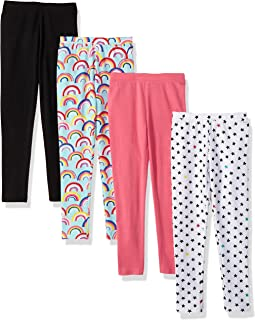 Spotted Zebra Girls' 4-Pack Leggings