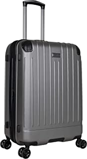 """Kenneth Cole Reaction Flying Axis 24"""" Hardside Expandable 8-Wheel Spinner Check-Size Luggage, Silver"""