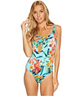 Tommy Bahama - Floriana Reversible Laced-Back One-Piece Swimsuit