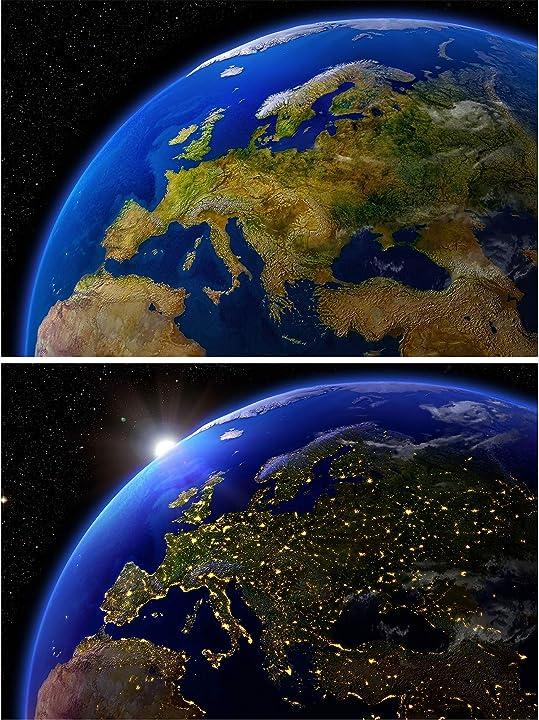 sfondi da parete Terra dallo spazio great art set con 2 great art B0943Z7HCF
