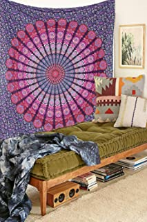 Hippie Tapestry Mandala Bohemian Tapestry Wall Hanging Queen Mandala Bohemian Wall Tapestry Psychedelic Indian Bedspread Magical Thinking Tapestry 8590 Inches, Ambika Designs INC