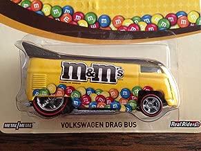 NEW 2014 Hot Wheels Pop Culture M&M's Volkswagen Drag Bus RARE real riders 2014 mattel
