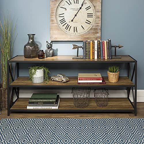 Wood And Metal Console Table Amazon Com