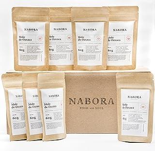 Nabora Mole de Oaxaca con Tableta de Cacao Orgánico, 60 g, Pack de 40
