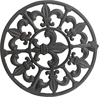 Comfy Hour Cast Iron Spike Garden Plant Trolley Flowerpot Holder, with Heavy Duty Super Strong Industrial Strength Iron Wheels