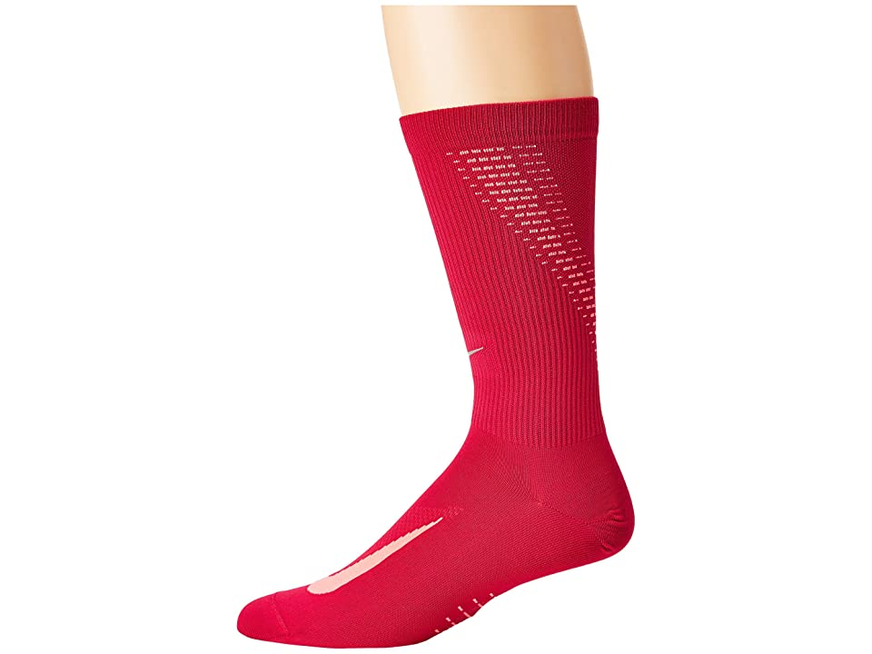 Nike Elite Run Lightweight 2.0 Crew (Sport Fuchsia/Racer Pink/Reflect Silver) Crew Cut Socks Shoes