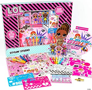L.O.L. Surprise! Stylin' Studio by Horizon Group USA,Decorate LOL Surprise Paper Dolls With 250+...