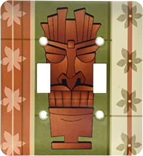 3dRose lsp/_175366/_6 Colorful Tiki Mask Pattern Outlet Cover Multicolor
