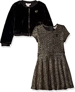 Juicy Couture 女童 2 件套连衣裙套装 Gold Print/Black 6