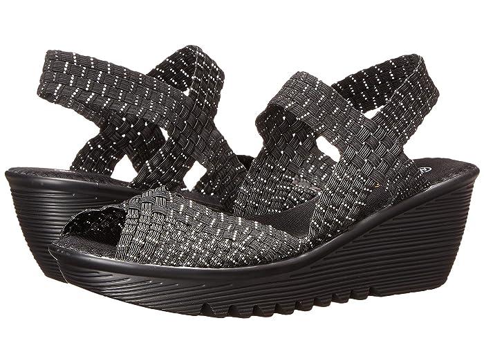 bernie mev.  Fame (Black/Silver) Womens Sandals