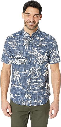 a2f385edb01 Reyn Spooner. Furoshiki Floral Tailored Aloha Shirt.  88.20MSRP   98.00. Ink
