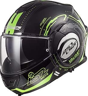 LS2 Helmets Motorcycles & Powersports Helmet's Modular Valiant (Black Light Green (Glow in the Dark), X-Large)