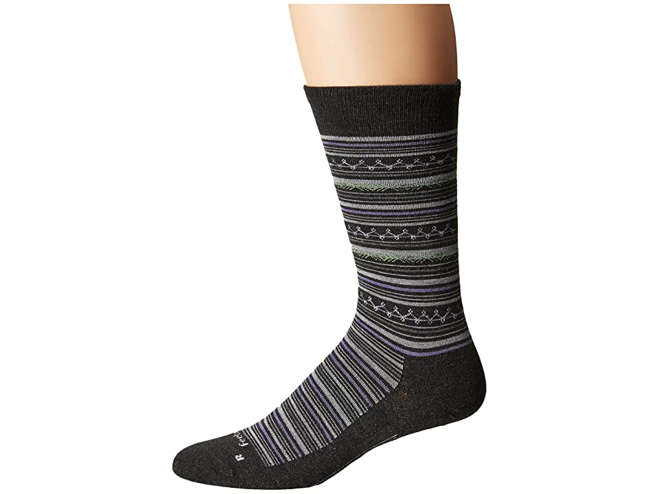 Feetures Santa Fe Ultra Light Crew Sock (Charcoal) Crew Cut Socks Shoes
